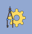 Flat icon design collection gear and tool