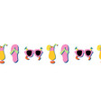 flip flops sunglasses and summer cocktails vector image