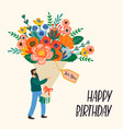 happy birthday cute man vector image