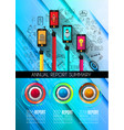 infograph template with multiple choices and a vector image vector image