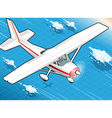 Isometric White Plane in Flight in Front View vector image vector image
