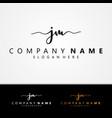 j m jm initial symbol signature design vector image vector image