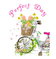 kids girl bike vector image