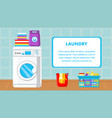 laundry web banner template with text space vector image vector image