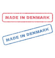 made in denmark textile stamps vector image vector image