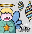 merry christmas decoration design to celebration vector image