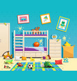 messy children room interior vector image vector image