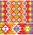 mexican ethnic pattern vector image vector image