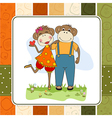 monkeys couple in love vector image vector image