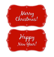 New Year And Christmas Vintage Badge vector image vector image