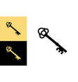 old key house icon logo key silhouette vector image vector image