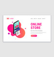 online store landing page concept vector image vector image