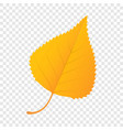 orange birch leaf icon flat style vector image vector image