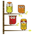 Owl collection vector image