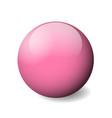 pink glossy sphere ball or orb 3d object vector image
