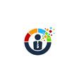 pixel job logo icon design vector image