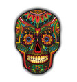 Print mexican traditional scull for T-shirt vector image vector image