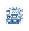 programmingcodingwed developer line icon concept vector image vector image