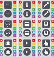 Pulse Information Microphone Headphones Calendar vector image vector image