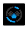 Realty diagram icon vector image vector image