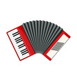 red accordion icon in flat style isolated on white vector image