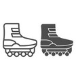 roller skates line and glyph icon shoe on casters vector image
