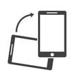rotate smartphone icon vector image vector image