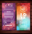 save date wedding and love icons vector image vector image
