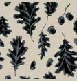 seamless pattern of autumn pattern hand vector image vector image