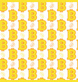 seamless pattern yellow bitcoins signs on white vector image vector image