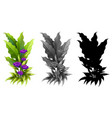 set of flower plant vector image