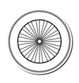 single wheel icon vector image