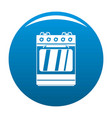 small gas oven icon blue vector image