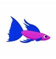 Small purple fish icon cartoon style vector image vector image