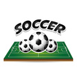 soccer sport vector image vector image