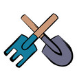 spade and pitchfork icon cartoon vector image vector image