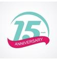 Template Logo 15 Anniversary vector image vector image