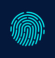 touch id fingerprint recognition vector image vector image