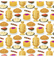 traditional russian cuisine seamless pattern vector image
