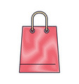 trapezoid shopping bag icon with handle in colored vector image vector image