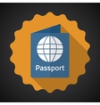 Travel Passport Flat icon background vector image