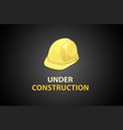 under construction with helmet vector image