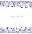 Watercolor delicate purple flowers card vector image vector image