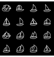 line sailboat icon set vector image