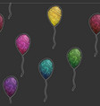 seamless pattern background with party balloons vector image
