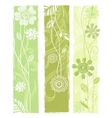 Stylish floral banners vector image