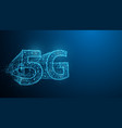 5g technology form lines triangles and particle vector image vector image