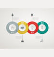 abstract circles parts infographic vector image