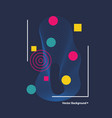abstract geometric background with circles vector image vector image
