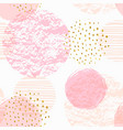 abstract geometric seamless pattern with pink vector image vector image